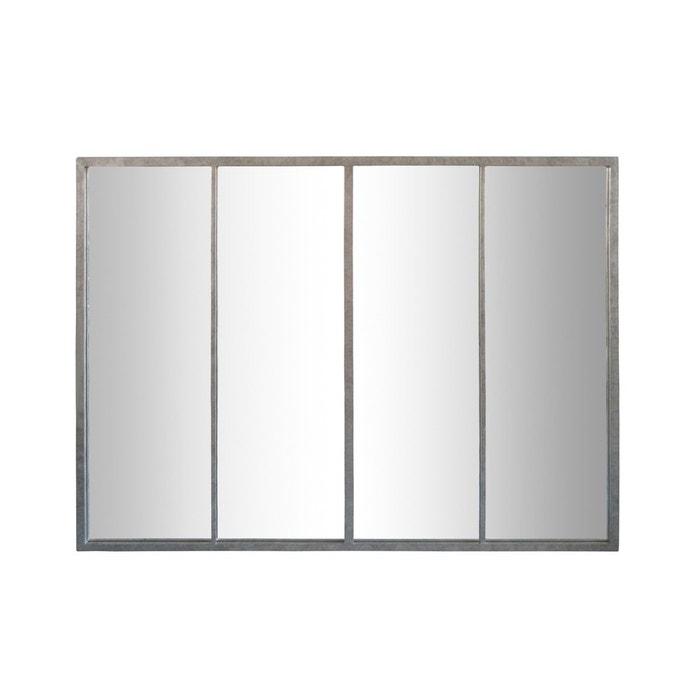 Miroir atelier 4 bandes zinc gris emde premium la redoute for Miroir 5 bandes