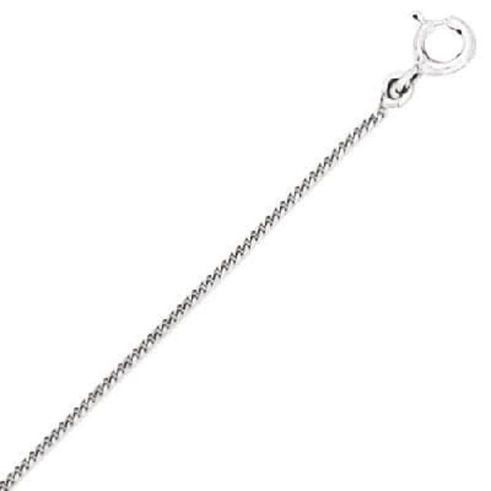 0e588d85529 Chaîne collier longueur 50 cm maille gourmette diamantée 1