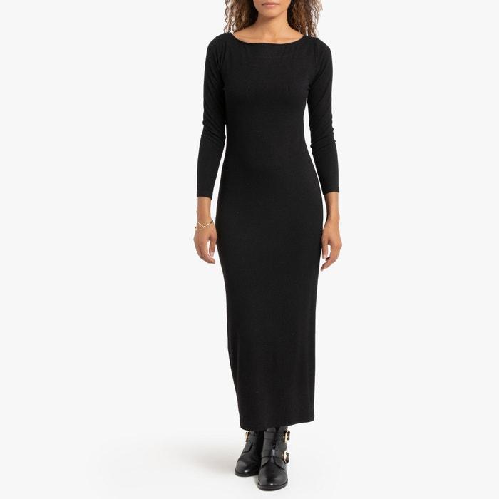 Lange aansluitende jurk in tricot  LA REDOUTE COLLECTIONS image 0