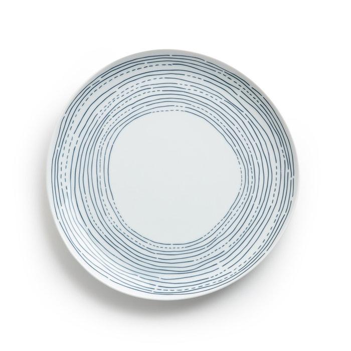 4er set flache teller agaxan blau weiss am pm la redoute. Black Bedroom Furniture Sets. Home Design Ideas