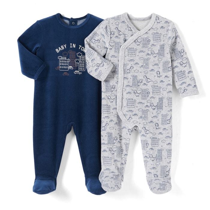 Imagen de Lote de 2 pijamas de terciopelo 0 meses - 3 años La Redoute Collections