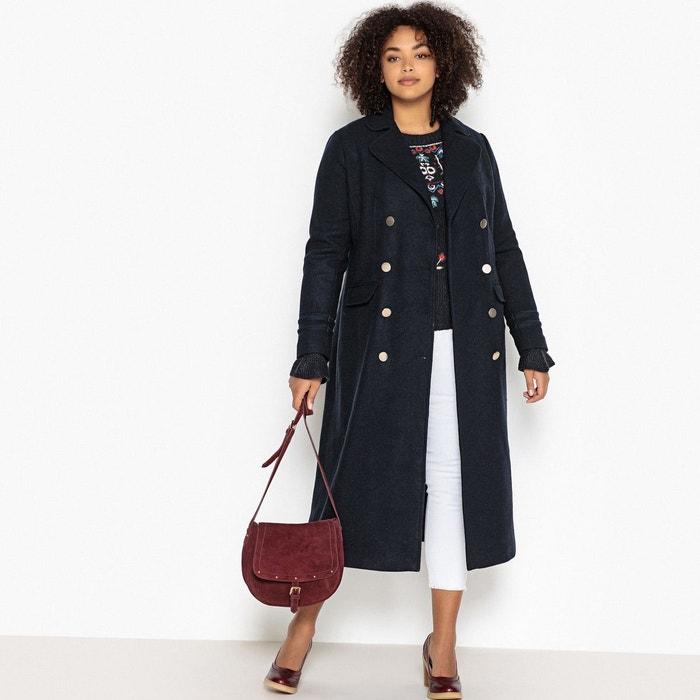 Manteau long style militaire en laine mélangée  CASTALUNA image 0