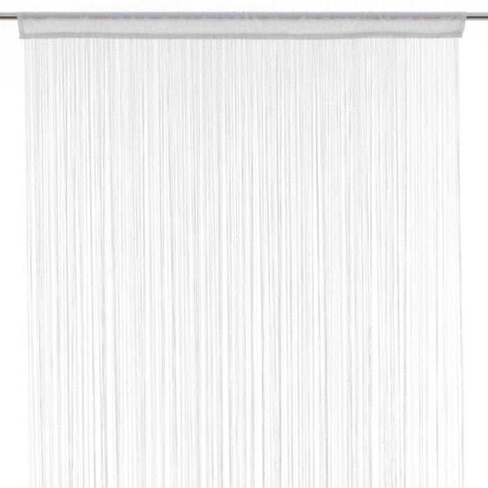 rideau fils 90 x 200 cm blanc blanc atmosphera la redoute. Black Bedroom Furniture Sets. Home Design Ideas