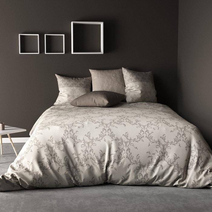 parure de lit 4 pi ces frise 100 coton 57 fils 2. Black Bedroom Furniture Sets. Home Design Ideas