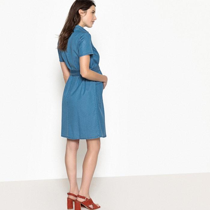 Collections 243;n talle La Redoute denim en el embarazo cintur de con Vestido w85PxqOF8