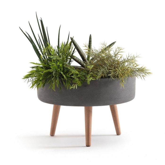 cache pot sur pied velika 45cm gris clair la redoute interieurs la redoute. Black Bedroom Furniture Sets. Home Design Ideas