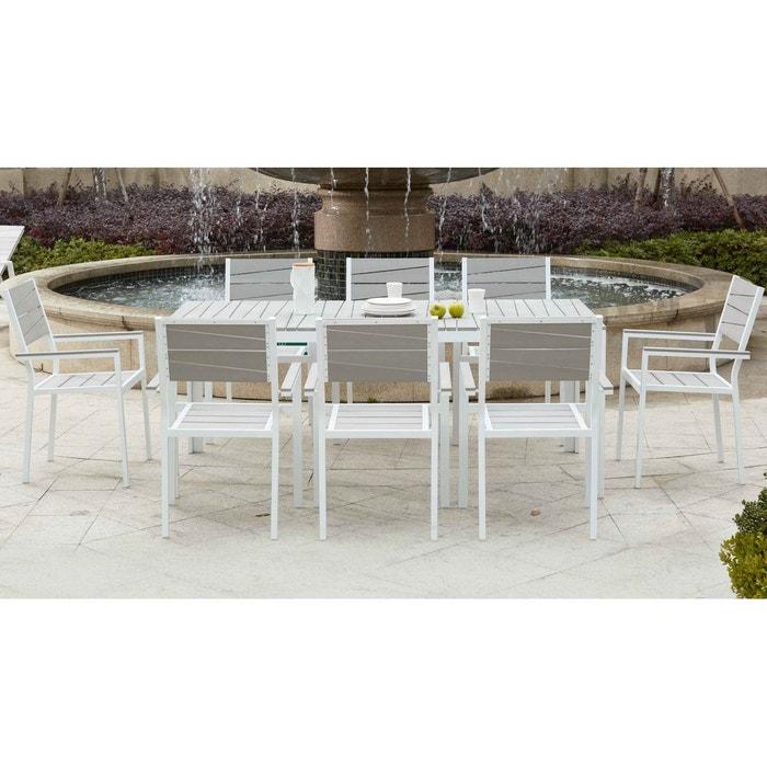 Table de jardin 8 places aluminium et polywood Boutique-Jardin ...