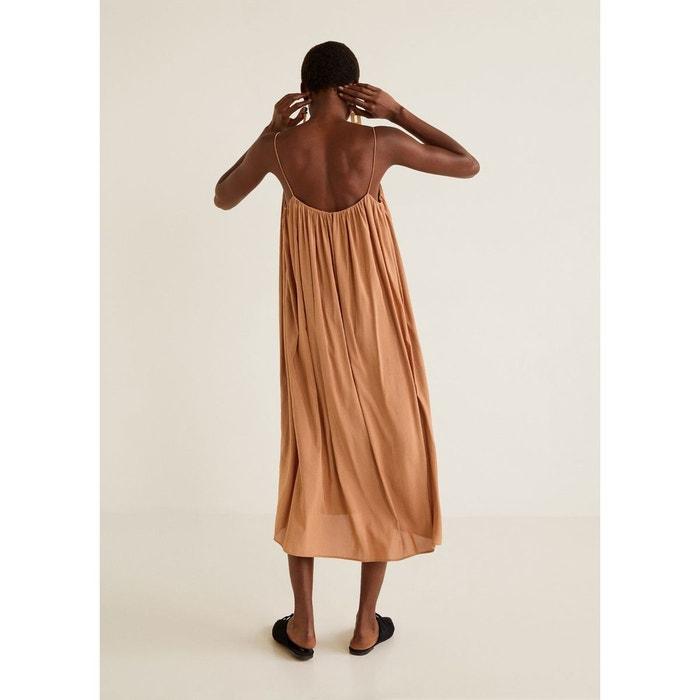 6d883370b3c0 Robe à détail froncé orange Mango
