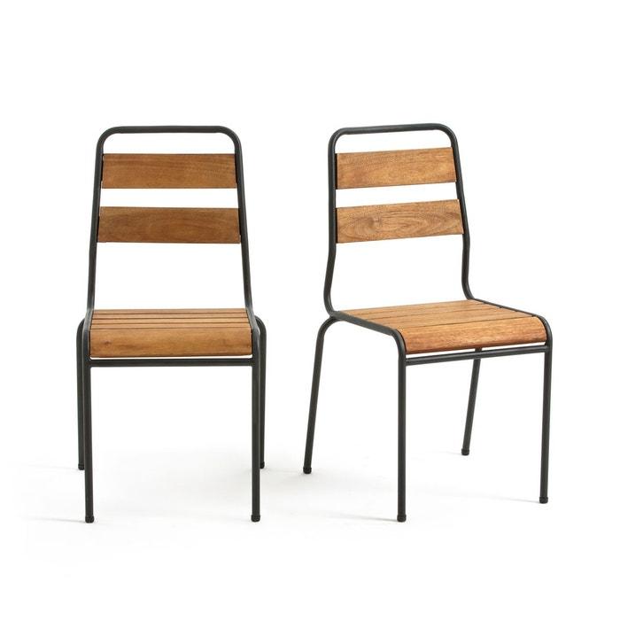 Chaise de jardin juragley lot de 2 bois m tal la redoute interieurs la redoute - Chaise de jardin en bois ...