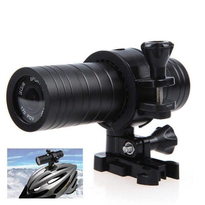 Caméra sport Full HD 1080P embarquée étanche Grand Angle 170° Noir