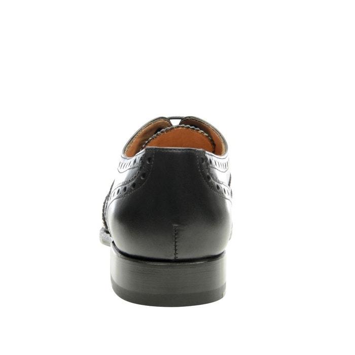 Richelieu full-brogue en noir noir Shoepassion