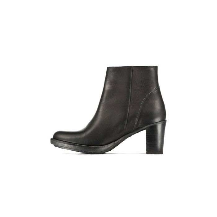 Boots cuir suédé à talon 74384 siema ibx noir P-L-D-M-By Palladium