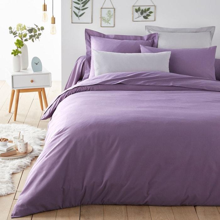 housse de couette unie coton violet quetsche scenario la redoute. Black Bedroom Furniture Sets. Home Design Ideas
