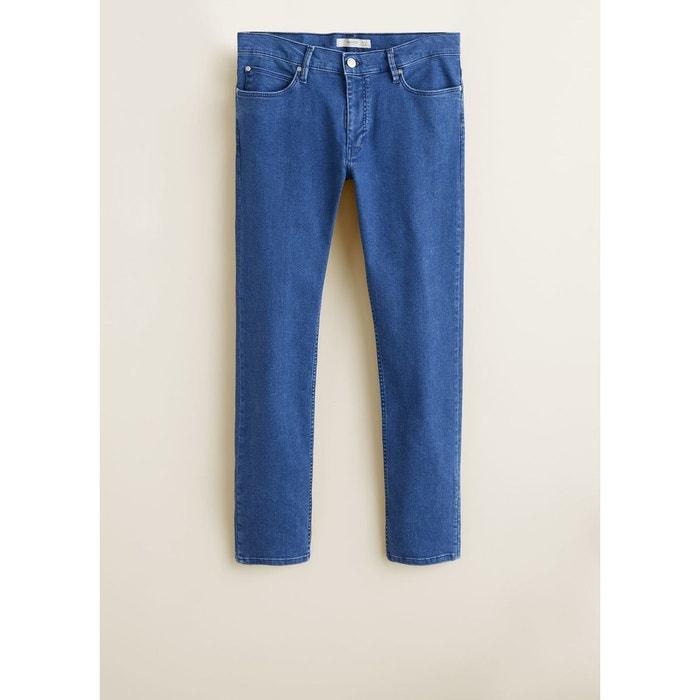 80d2e30b9550 Jean patrick slim-fit délavé moyen bleu moyen Mango Man