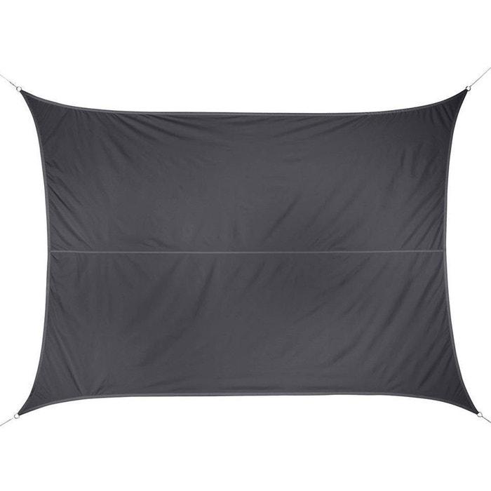 voile d 39 ombrage rectangulaire 3 x 4 m curacao gris couleur unique hesperide la redoute. Black Bedroom Furniture Sets. Home Design Ideas