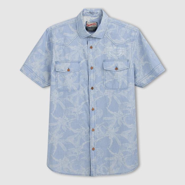 afbeelding Bedrukt hemd met korte mouwen PETROL INDUSTRIES