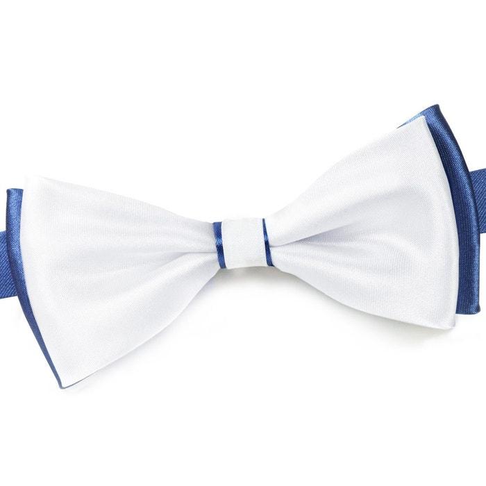 8b0b0336a3713 Noeud papillon becool blanc sur bleu jean - fabriqué en europe blanc  Dandytouch | La Redoute