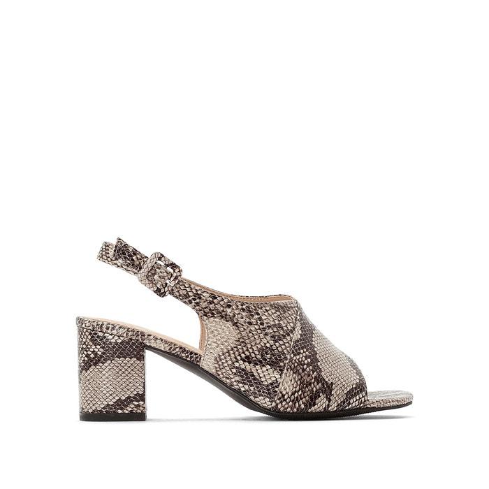05299428e Snake print high block heel sandals