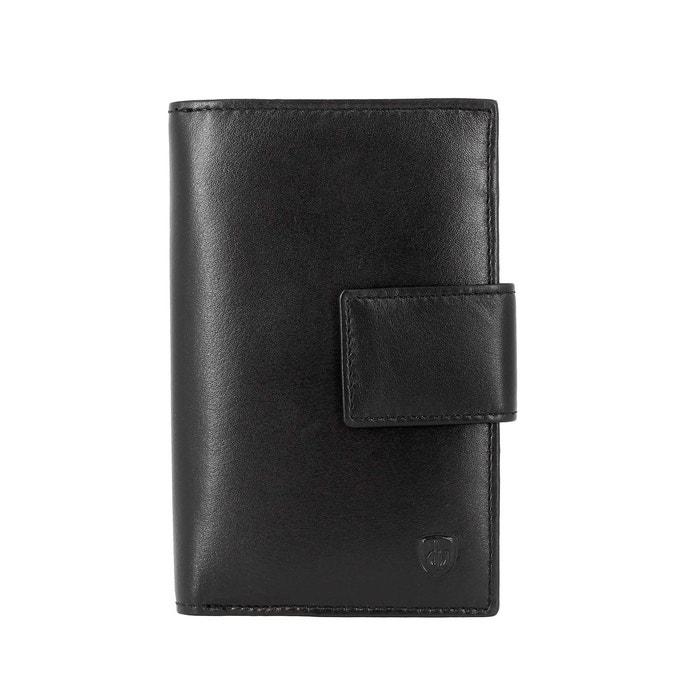 767a8ede94ad Dv grand portefeuille pour femme en cuir véritable avec fermeture éclair  porte-monnaie porte-billets et cartes de crédit noir Dv