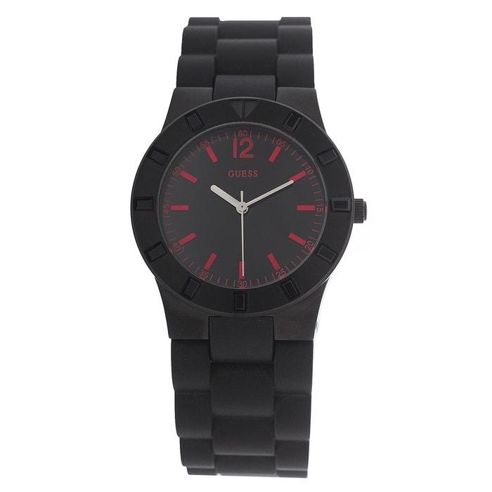Montre w11602l1 noir, rouge Guess   La Redoute