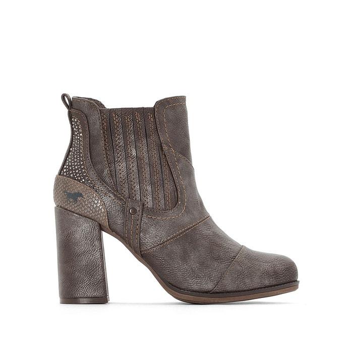 Vente Au Rabais Jeu À La Mode Boots à talon gris Mustang Shoes Pas Cher En Vente Achats En Ligne Payer Avec Le Prix De Visa Pas Cher 5FmfHs
