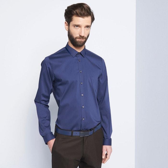 chemise homme ville uni fantaisie col bleu night devred la redoute. Black Bedroom Furniture Sets. Home Design Ideas
