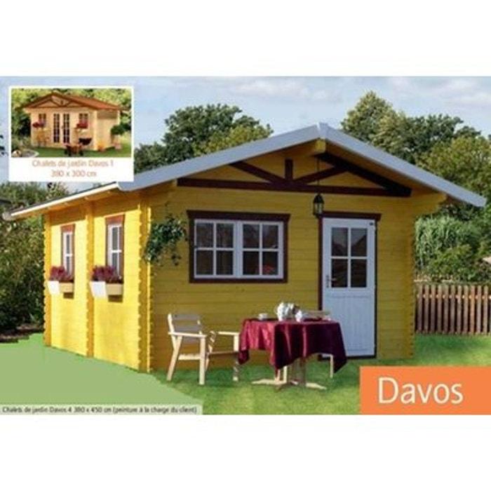 chalet de jardin en bois 380 x 300 cm m davos. Black Bedroom Furniture Sets. Home Design Ideas