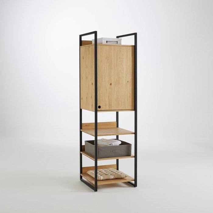 Hiba solid pine storage unit wood metal la redoute interieurs la redoute - Hiba la redoute ...