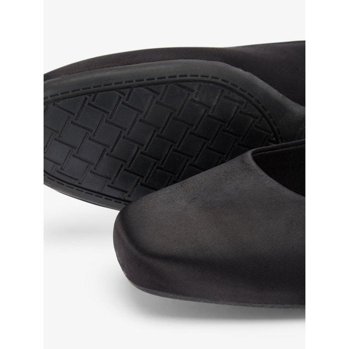 arrière bride Cuir carré bout à BIANCO Chaussures tqwERR
