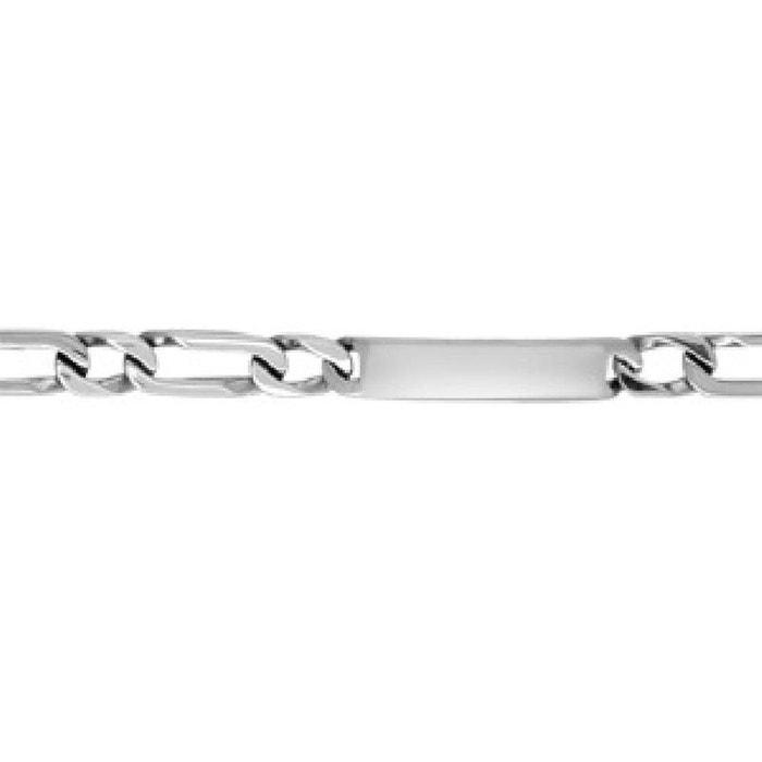 Bracelet 22 cm identité gourmette maille 1 + 1 largeur 11 mm acier inoxydable couleur unique So Chic Bijoux | La Redoute Vente Pas Cher Confortable BuwOhBOd