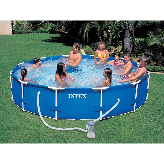 piscine tubulaire metal frame ronde 3 66 x 0 76 m intex. Black Bedroom Furniture Sets. Home Design Ideas