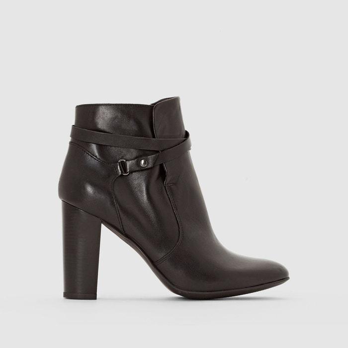 Boots cuir brides croisées La Redoute Collections