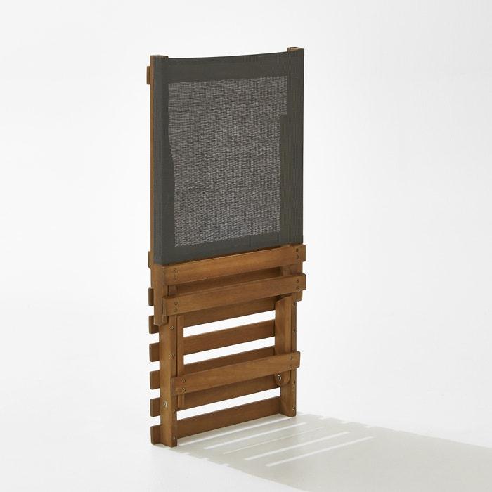 chaise basse de plage acacia la redoute interieurs la. Black Bedroom Furniture Sets. Home Design Ideas