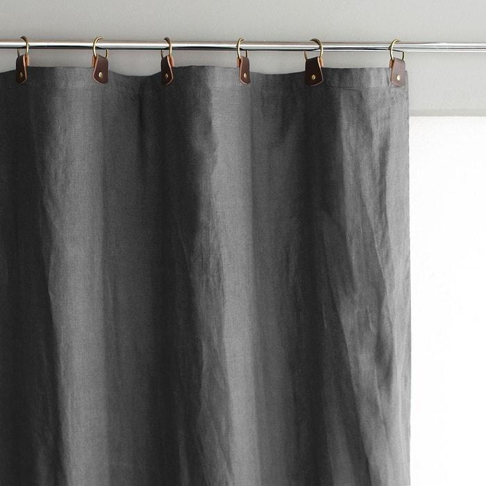 rideau lin lav passants cuir private am pm la redoute. Black Bedroom Furniture Sets. Home Design Ideas