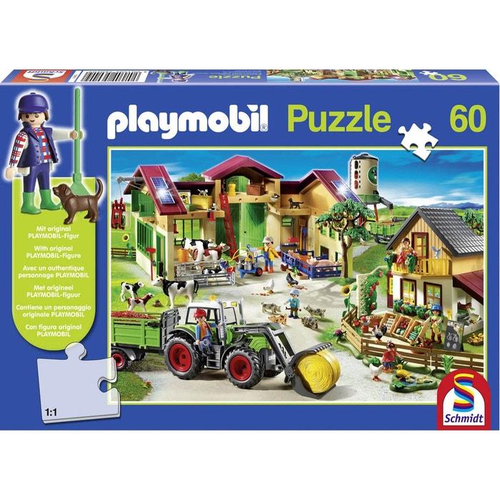 Puzzle 60 pi ces playmobil a la ferme couleur unique playmobil la redoute - La redoute playmobil ...