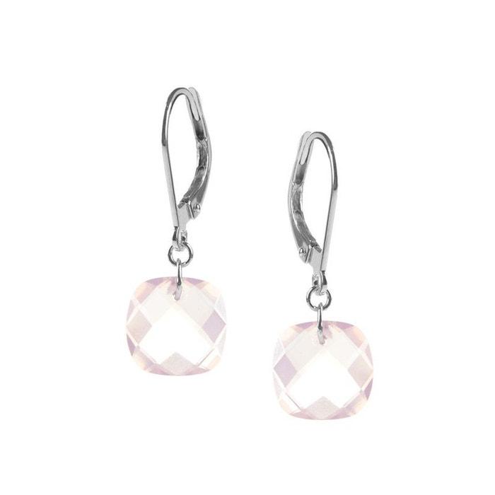 Boucles d'oreilles or blanc et quartz roses Prix À La Vente Réduction Ebay Coût De La Vente Livraison Gratuite Vraiment HiIVMHe