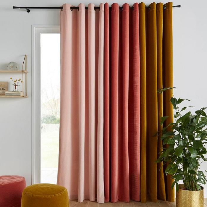 rideau velours illets velvet la redoute interieurs la redoute. Black Bedroom Furniture Sets. Home Design Ideas