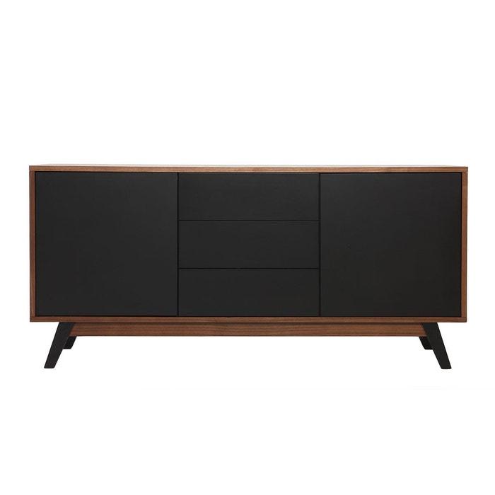 buffet design noyer et noir mat norma miliboo la redoute. Black Bedroom Furniture Sets. Home Design Ideas