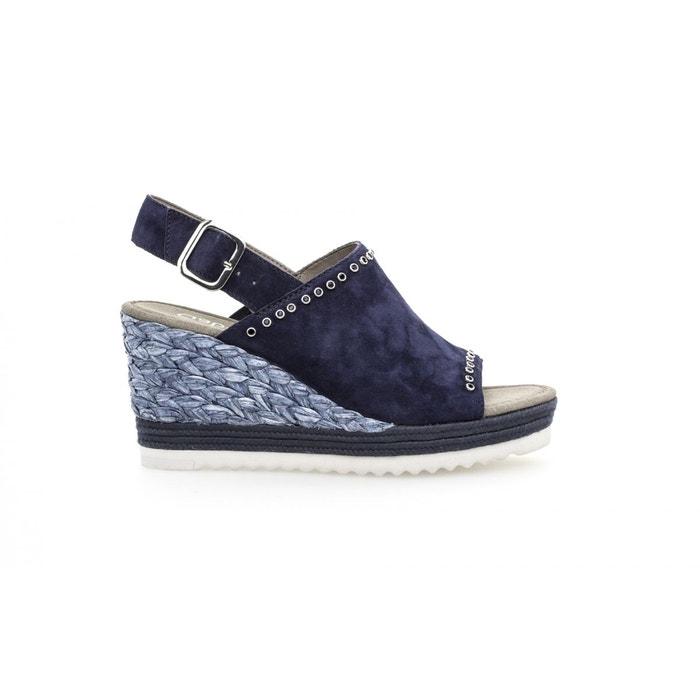 Sandales compensées bleu marine bleu Gabor Offres Spéciales re0aLgm