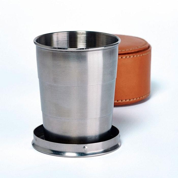 tasse extensible cuir acier et cuir nature et decouvertes la redoute. Black Bedroom Furniture Sets. Home Design Ideas