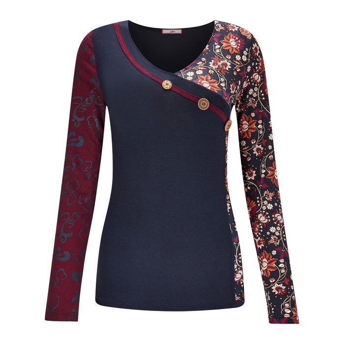 flores Camiseta cuello manga de larga con de BROWNS estampado de pico JOE y zUf6p