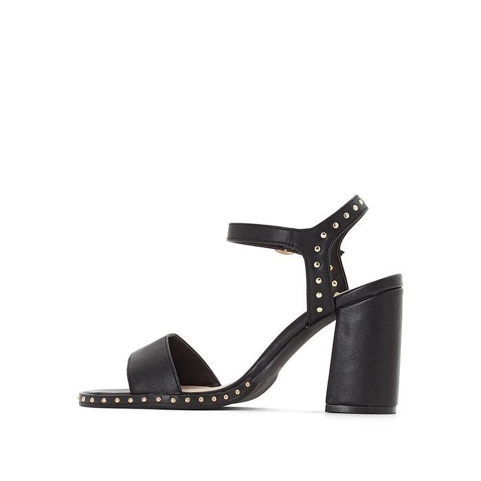 Sandales détail clous noir La Redoute Collections