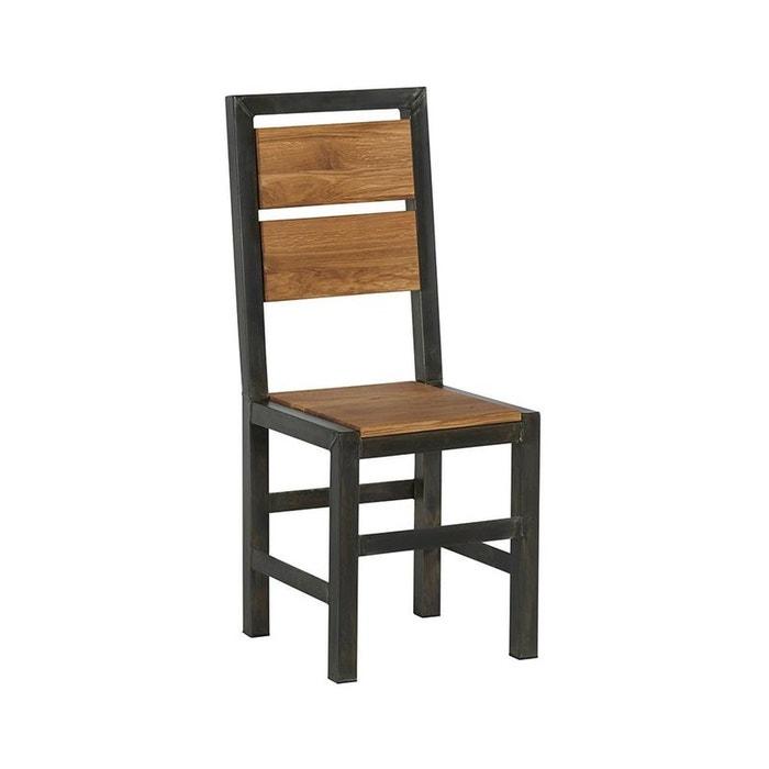 Chaise salle à manger bois de chêne métal ferscott bois et métal ...