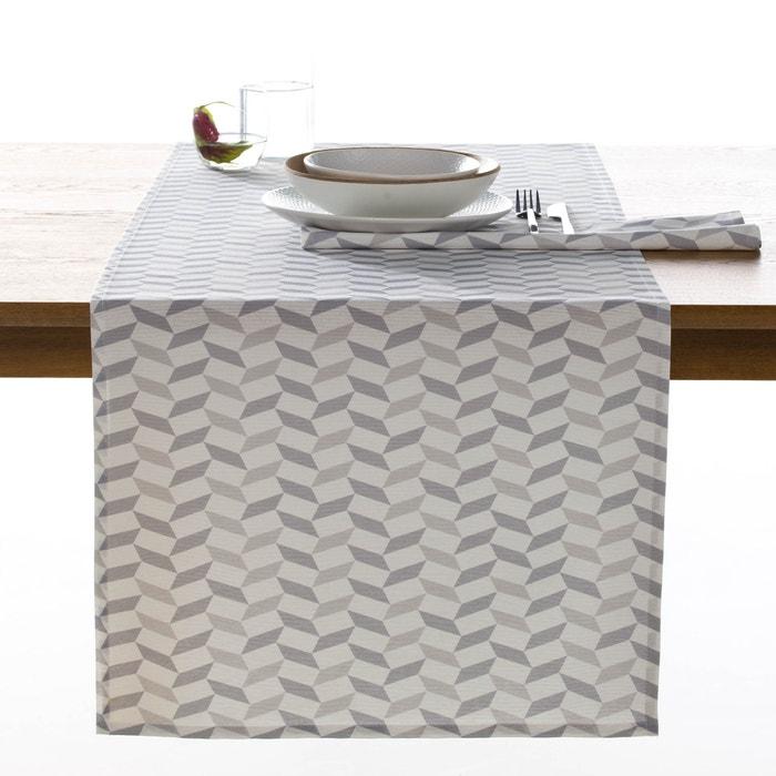 chemin de table chevrons melba scandinave imprim gris la redoute interieurs la redoute. Black Bedroom Furniture Sets. Home Design Ideas