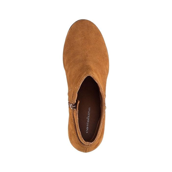 95ea51fbc6fa49 Boots croûte de cuir pied large 3845 camel Castaluna - paved4us.com