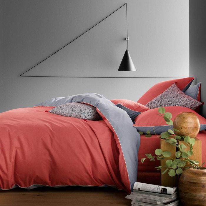 housse de couette percale 80 fils cm bicolore. Black Bedroom Furniture Sets. Home Design Ideas