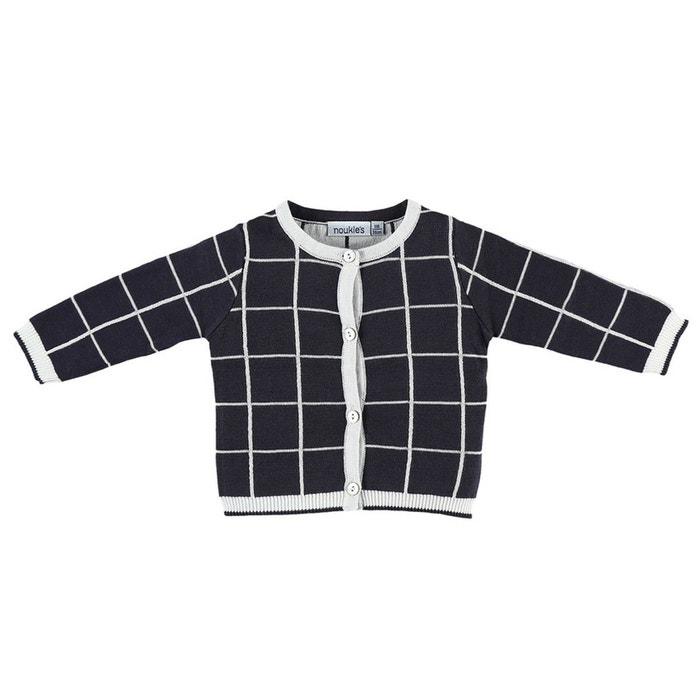 9e3a13248558d Cardigan en tricot bicolore blanc cachou Noukie s