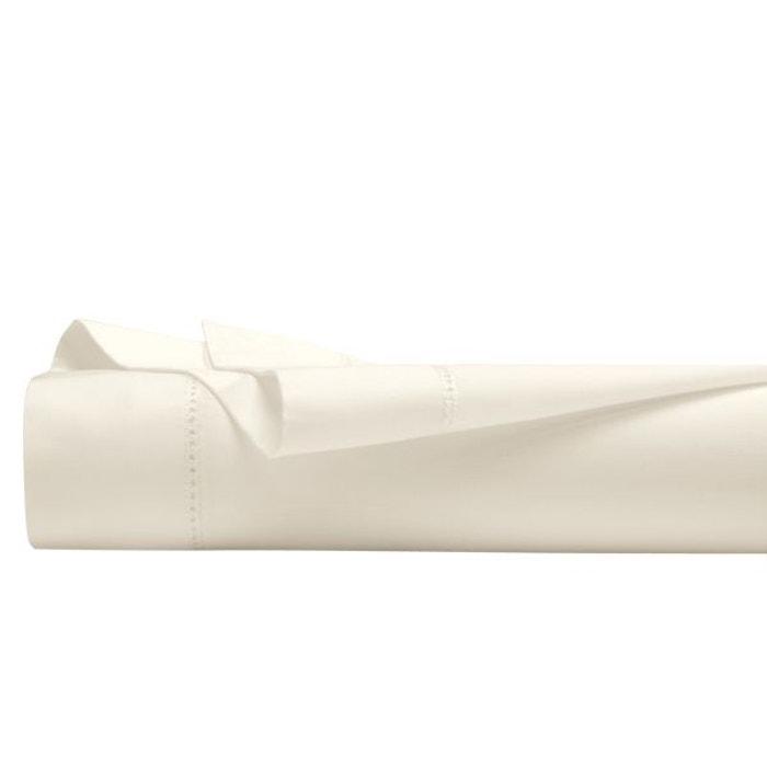 drap plat satin uni ecru i fil home la redoute. Black Bedroom Furniture Sets. Home Design Ideas