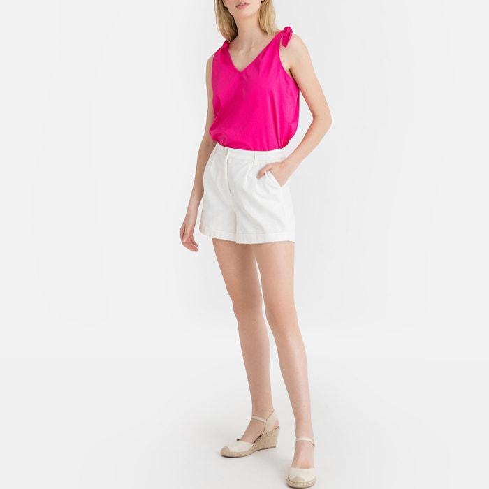 d32c0414f1a Tie shoulder sleeveless blouse La Redoute Collections | La Redoute