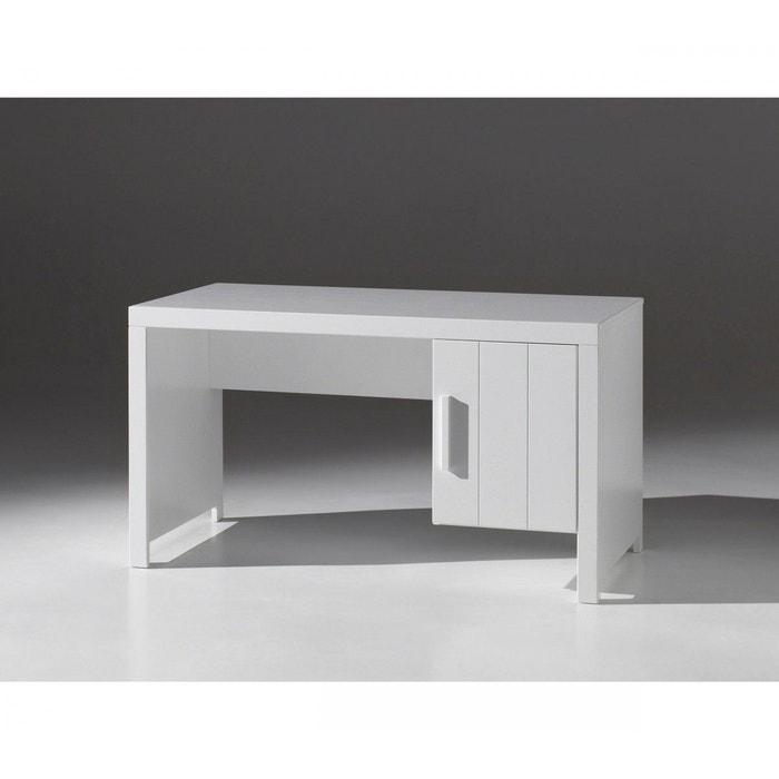 bureau blanc 1 porte enfant bu2011 terre de nuit blanc. Black Bedroom Furniture Sets. Home Design Ideas